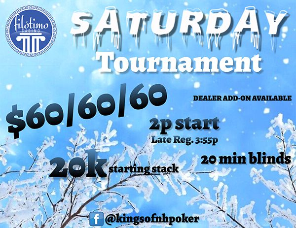 Saturday Poker Tournaments
